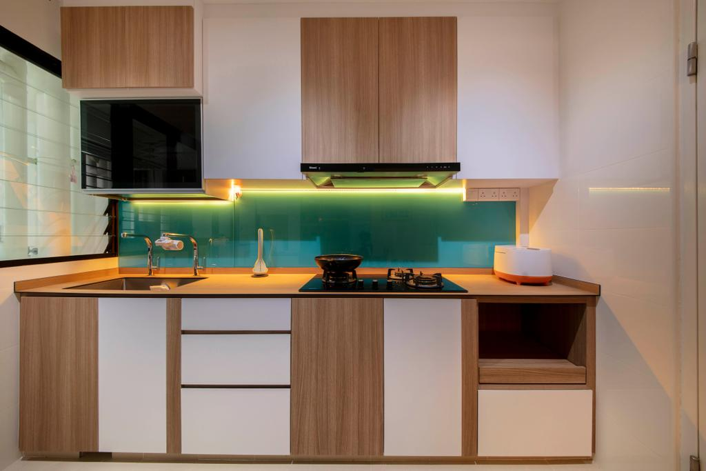 Contemporary, HDB, Kitchen, Upper Serangoon Road, Interior Designer, VVID Elements