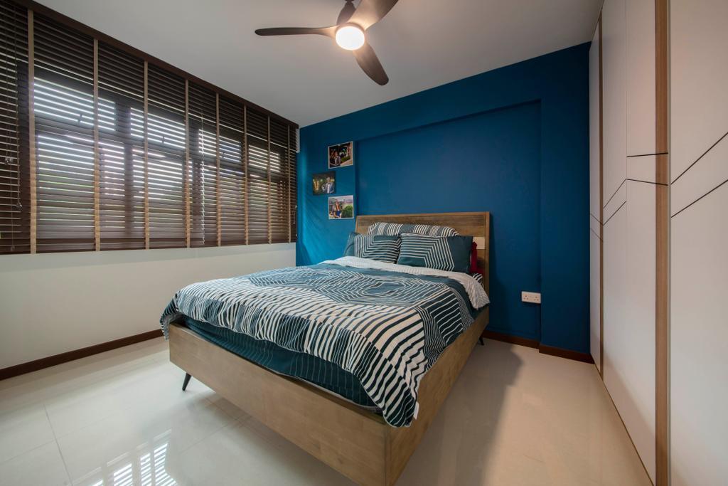 Contemporary, HDB, Bedroom, Upper Serangoon Road, Interior Designer, VVID Elements