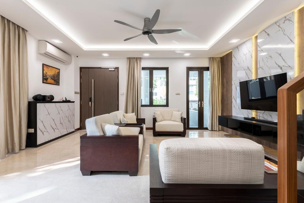Contemporary, Landed, Living Room, Jalan Selanting, Interior Designer, De Exclusive Design Group