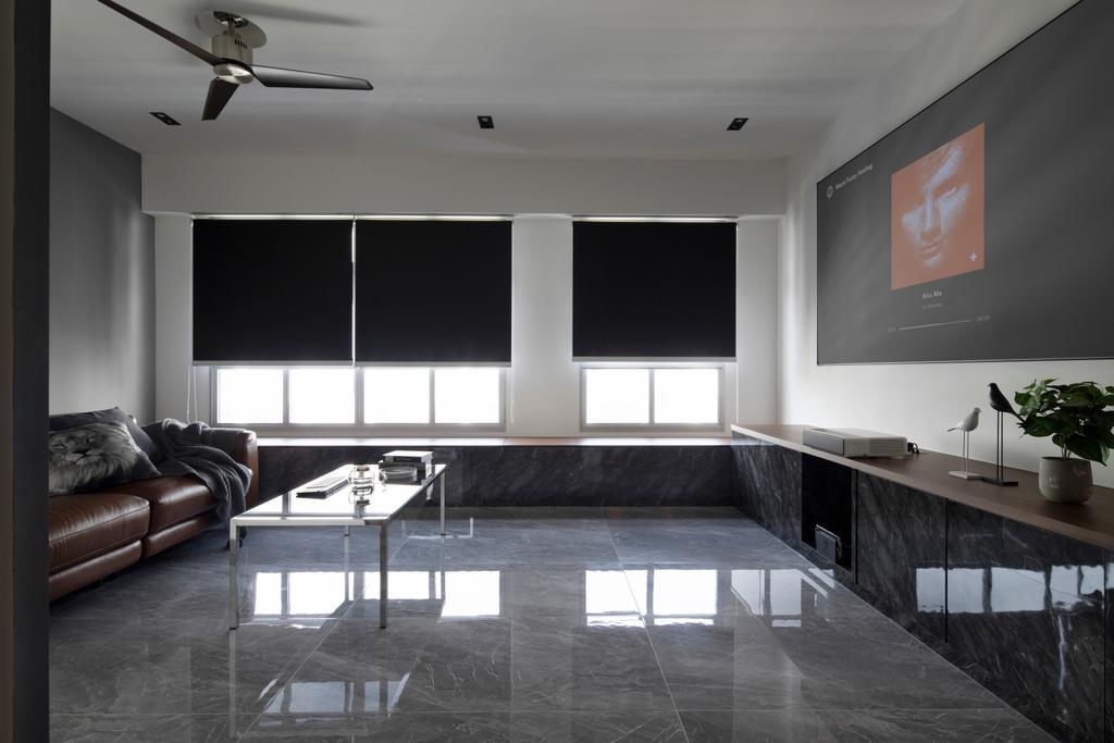 Contemporary, HDB, Living Room, Yishun Avenue 4, Interior Designer, Aestherior