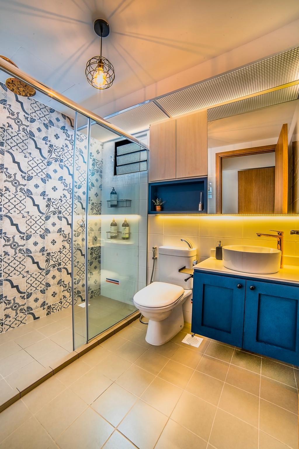 Contemporary, HDB, Bathroom, West Terra, Interior Designer, Escapade Studios