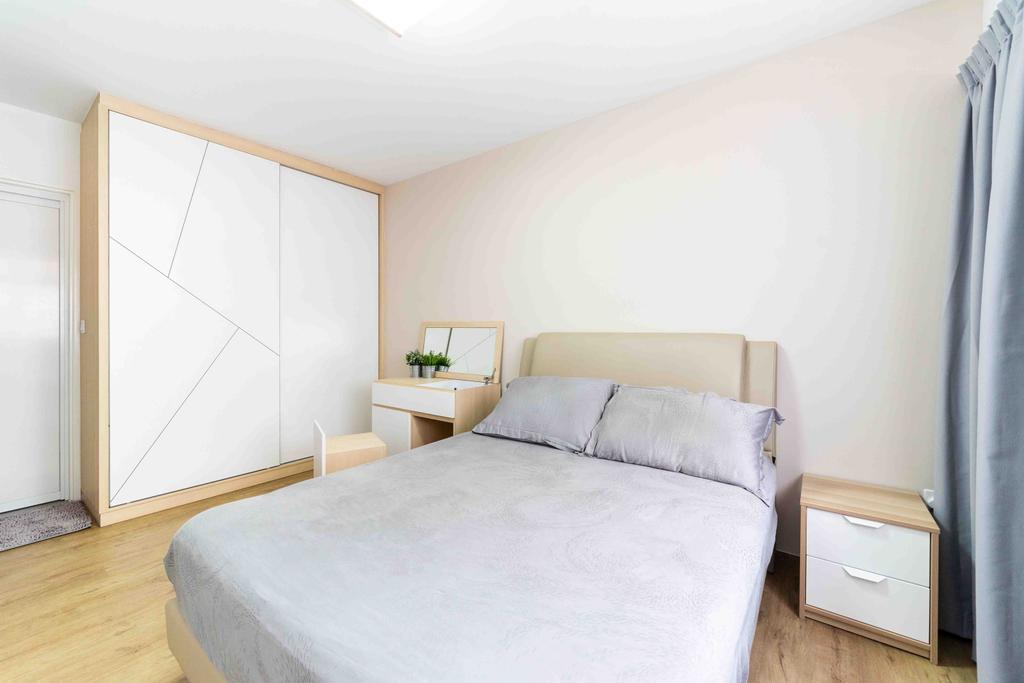 HDB, Bedroom, Bukit Batok West Avenue 8, Interior Designer, Fineline Design