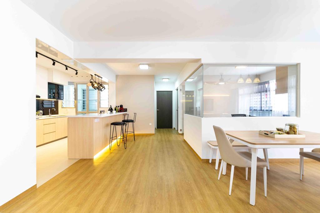 HDB, Dining Room, Bukit Batok West Avenue 8, Interior Designer, Fineline Design