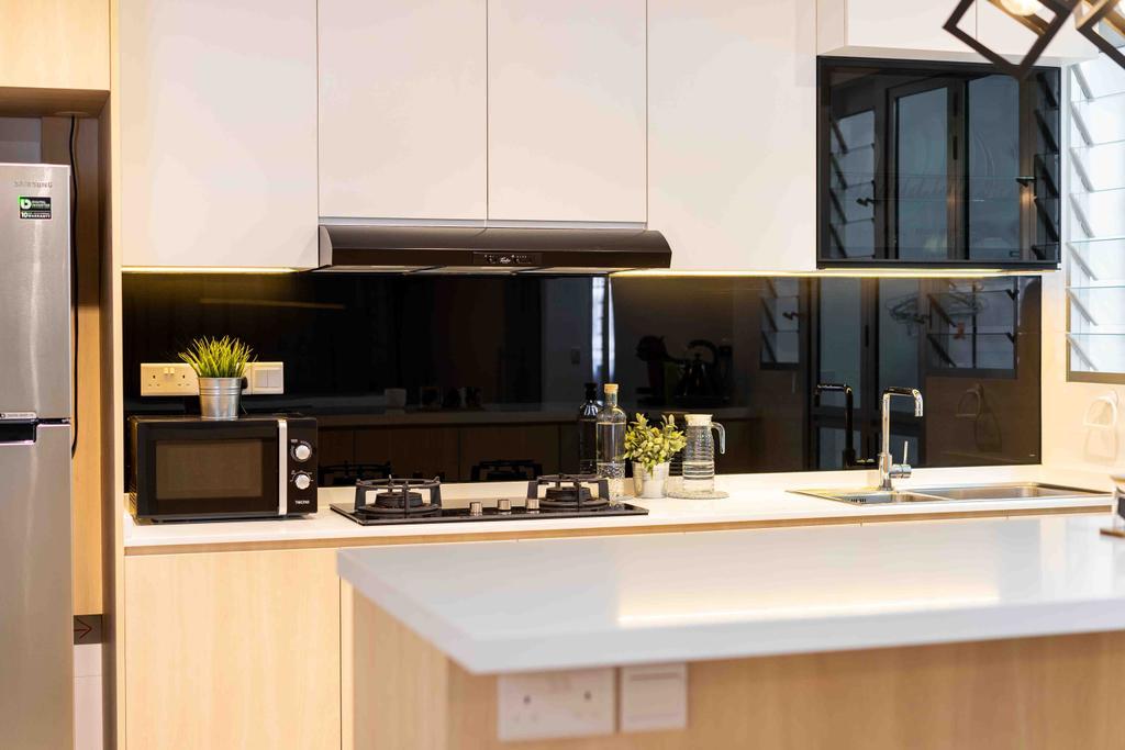 HDB, Kitchen, Bukit Batok West Avenue 8, Interior Designer, Fineline Design
