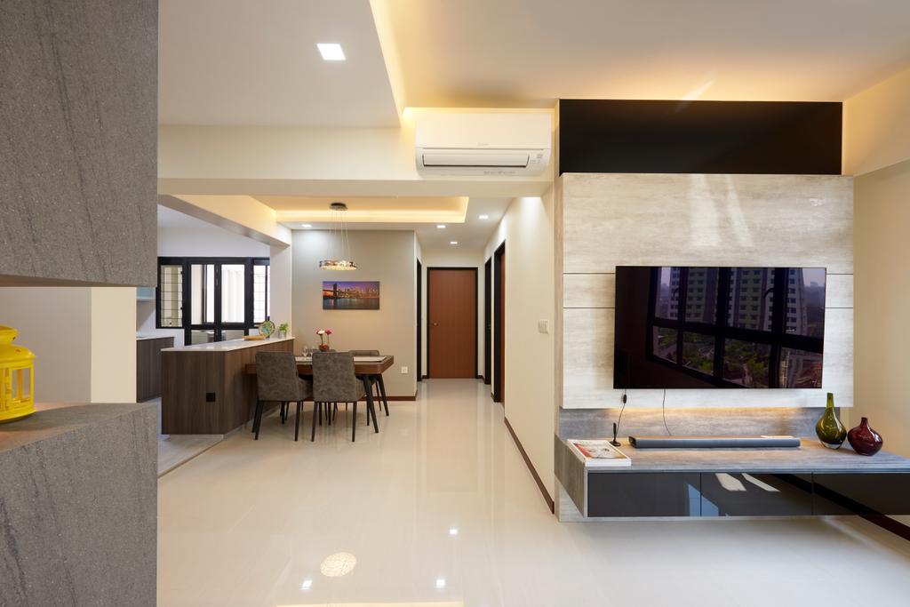 Contemporary, HDB, Living Room, Buangkok Crescent, Interior Designer, AC Vision Design