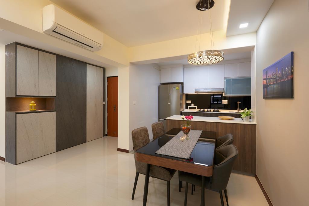 Contemporary, HDB, Dining Room, Buangkok Crescent, Interior Designer, AC Vision Design