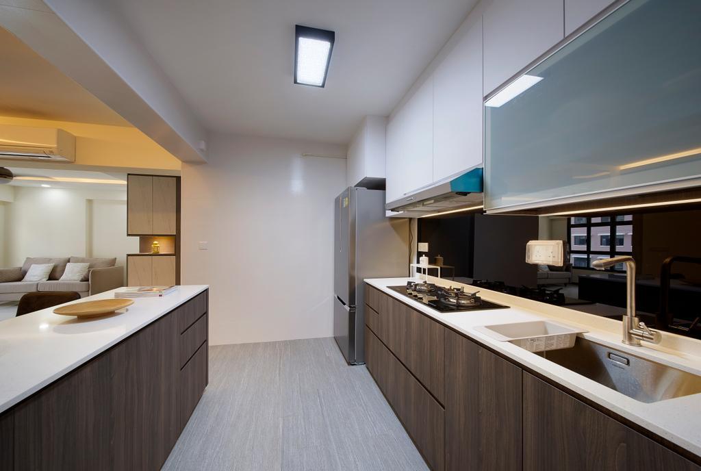 Contemporary, HDB, Kitchen, Buangkok Crescent, Interior Designer, AC Vision Design