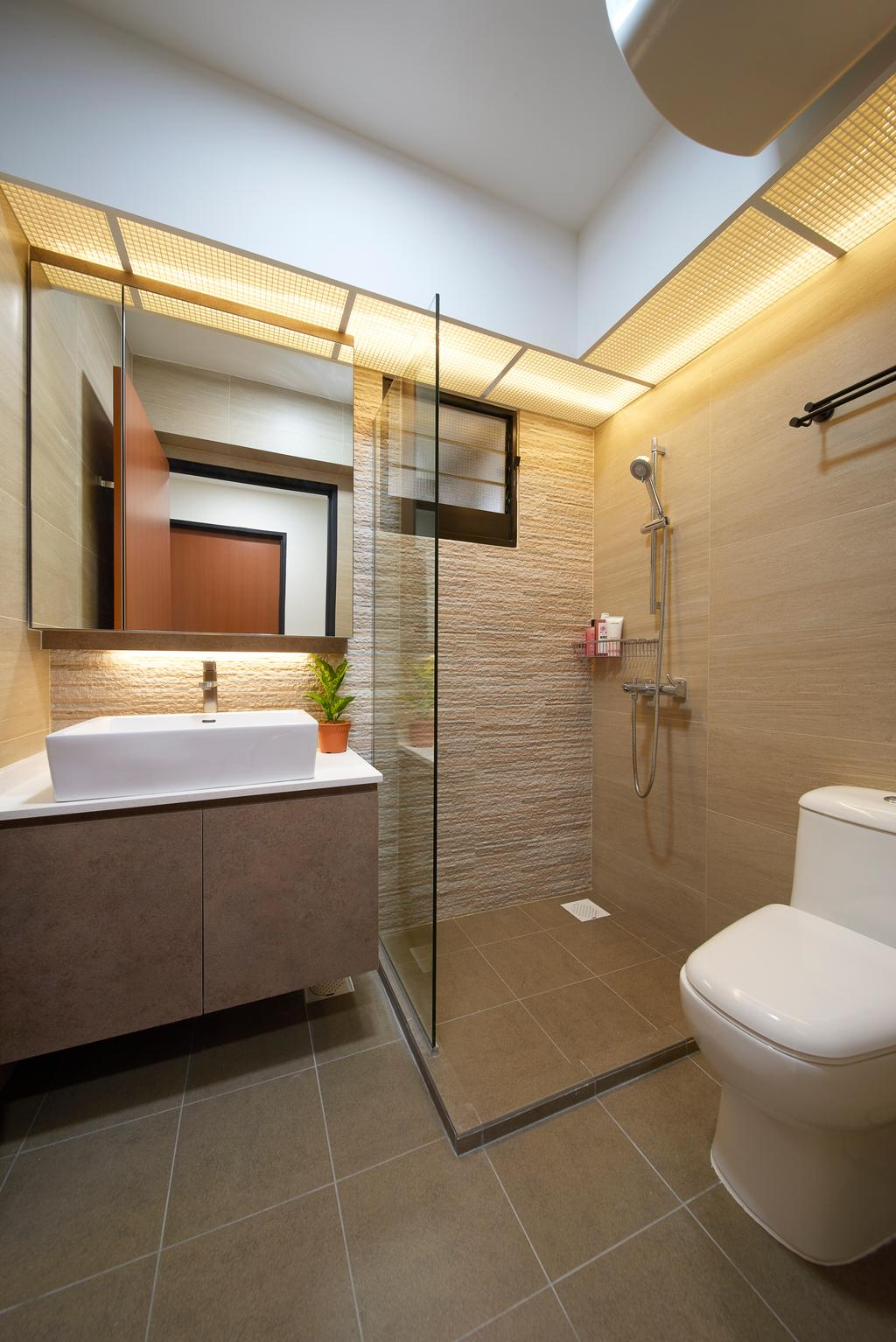 Contemporary, HDB, Bathroom, Buangkok Crescent, Interior Designer, AC Vision Design
