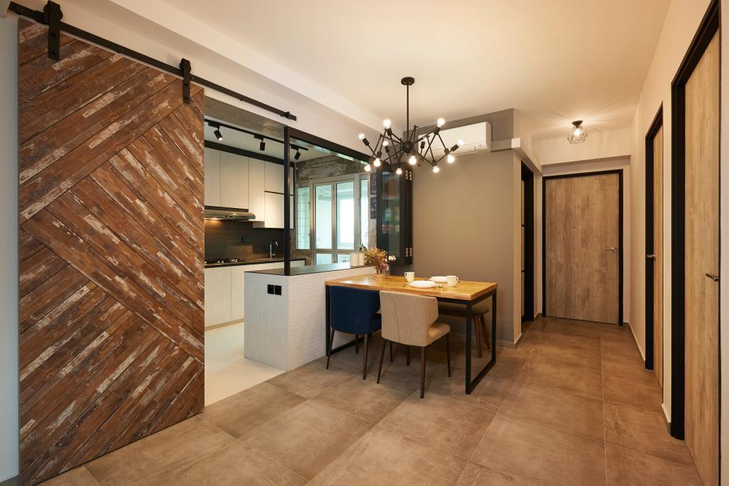 Contemporary, HDB, Dining Room, Lorong 1 Toa Payoh, Interior Designer, AC Vision Design