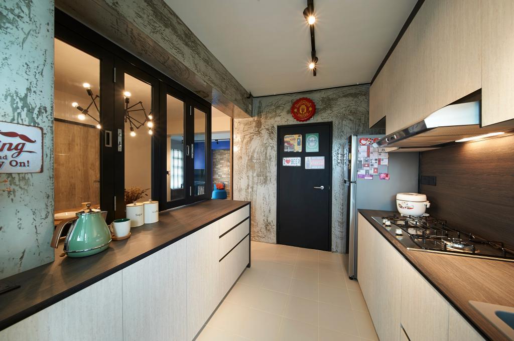 Contemporary, HDB, Kitchen, Lorong 1 Toa Payoh, Interior Designer, AC Vision Design