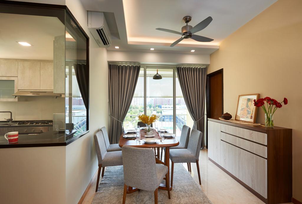 Contemporary, Condo, Dining Room, Ris Grandeur, Interior Designer, AC Vision Design