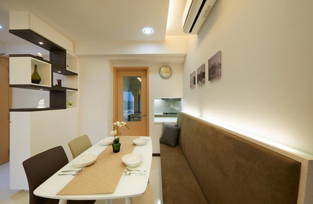 Contemporary, HDB, Dining Room, Tampines Central 7, Interior Designer, AC Vision Design