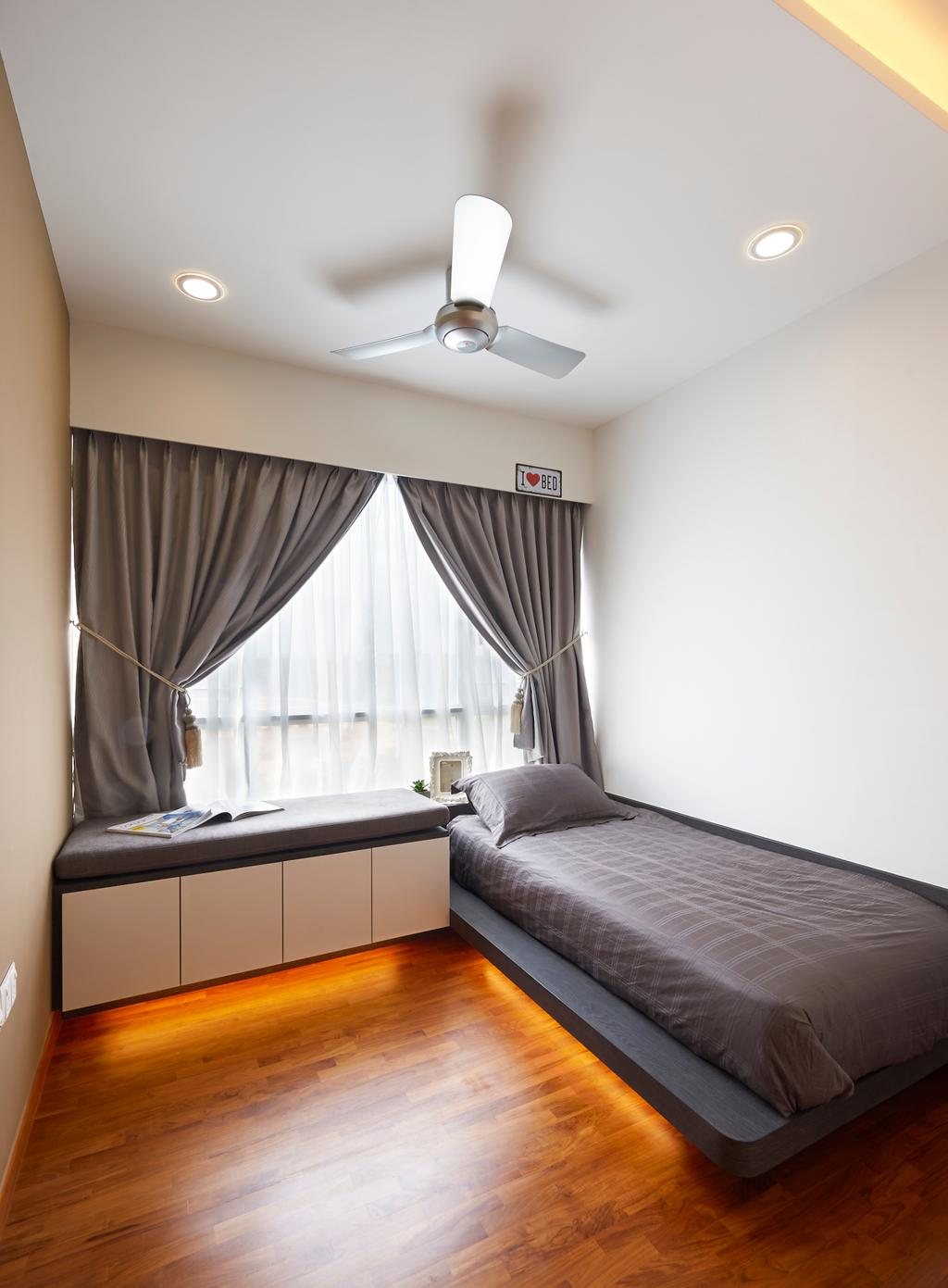 Contemporary, HDB, Bedroom, Tampines Central 7, Interior Designer, AC Vision Design