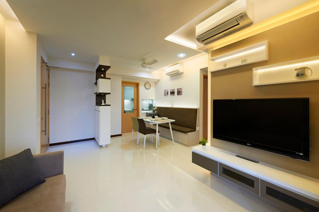 Contemporary, HDB, Living Room, Tampines Central 7, Interior Designer, AC Vision Design