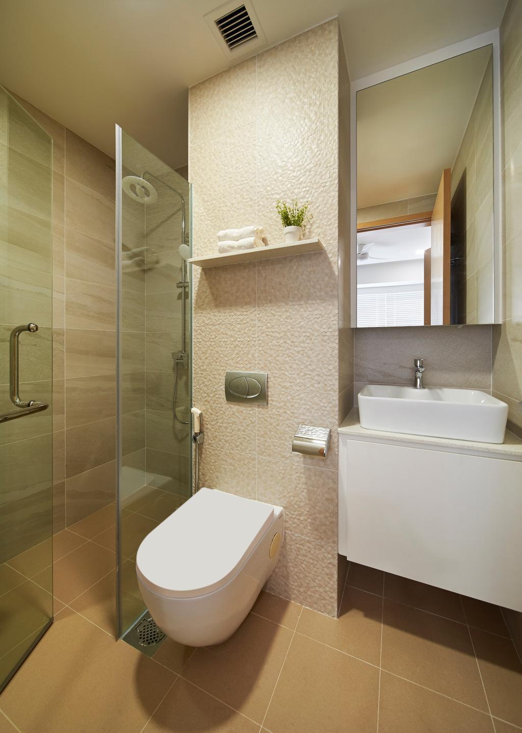 Contemporary, Condo, Bathroom, Whitescape, Interior Designer, AC Vision Design