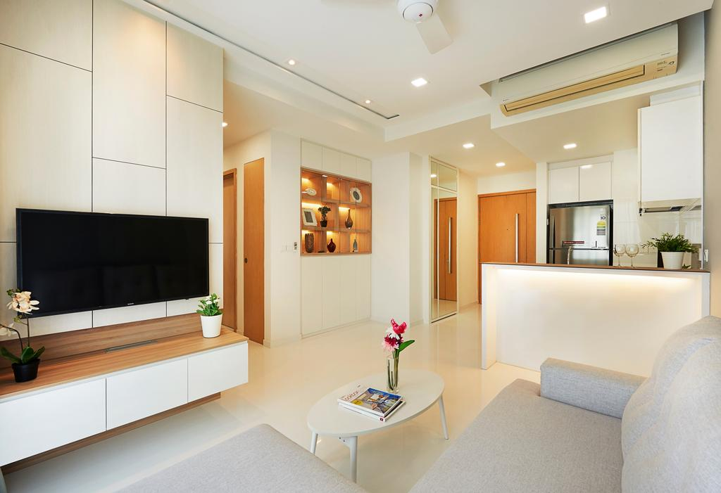Contemporary, Condo, Living Room, Whitescape, Interior Designer, AC Vision Design