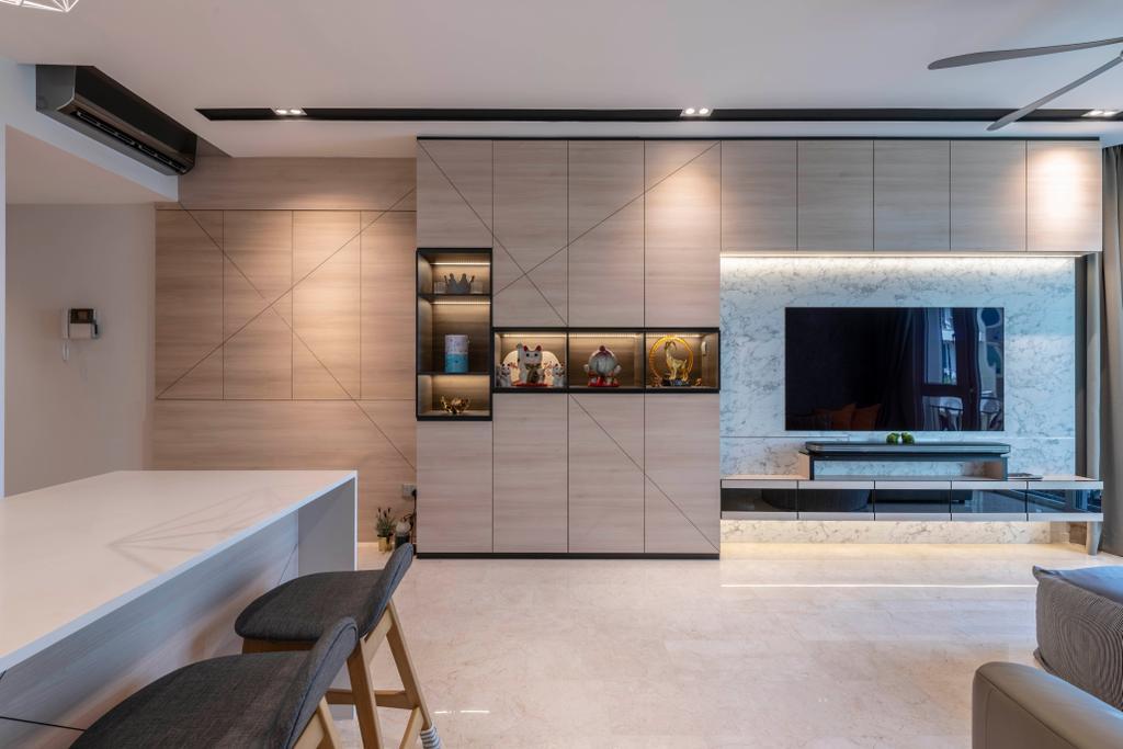 Contemporary, Condo, Living Room, Edelweiss Park, Interior Designer, Escapade Studios