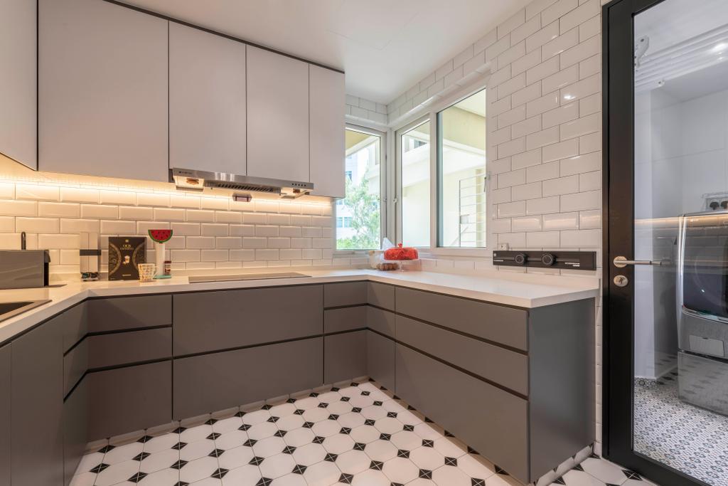 Contemporary, Condo, Kitchen, Edelweiss Park, Interior Designer, Escapade Studios