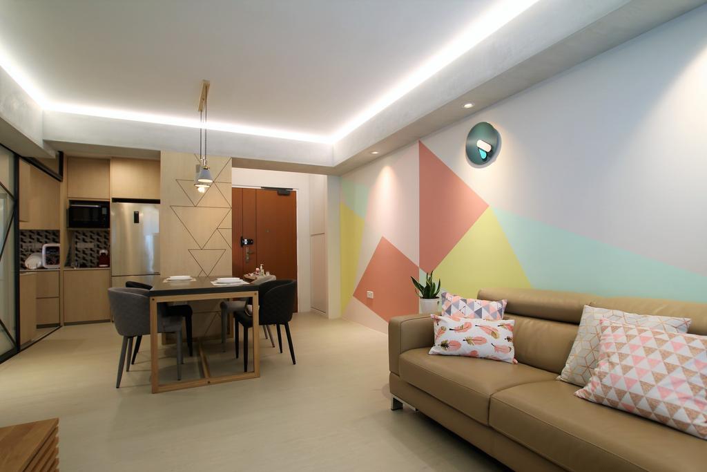 Contemporary, HDB, Living Room, Telok Blangah, Interior Designer, Intrigue-d Design Consultancy