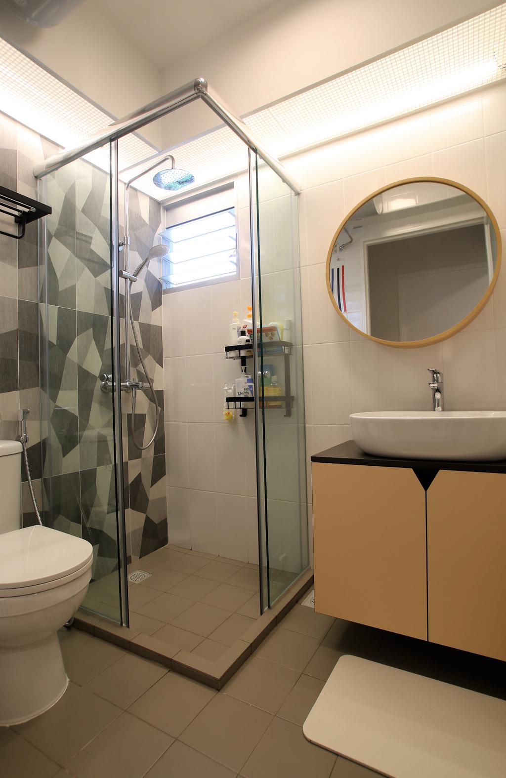 Contemporary, HDB, Bathroom, Telok Blangah, Interior Designer, Intrigue-d Design Consultancy