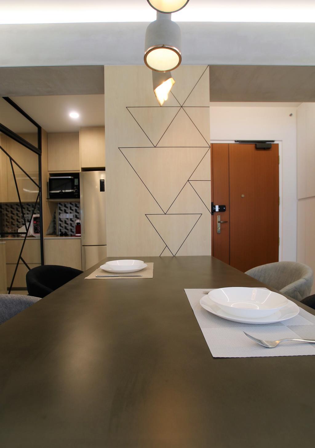 Contemporary, HDB, Dining Room, Telok Blangah, Interior Designer, Intrigue-d Design Consultancy
