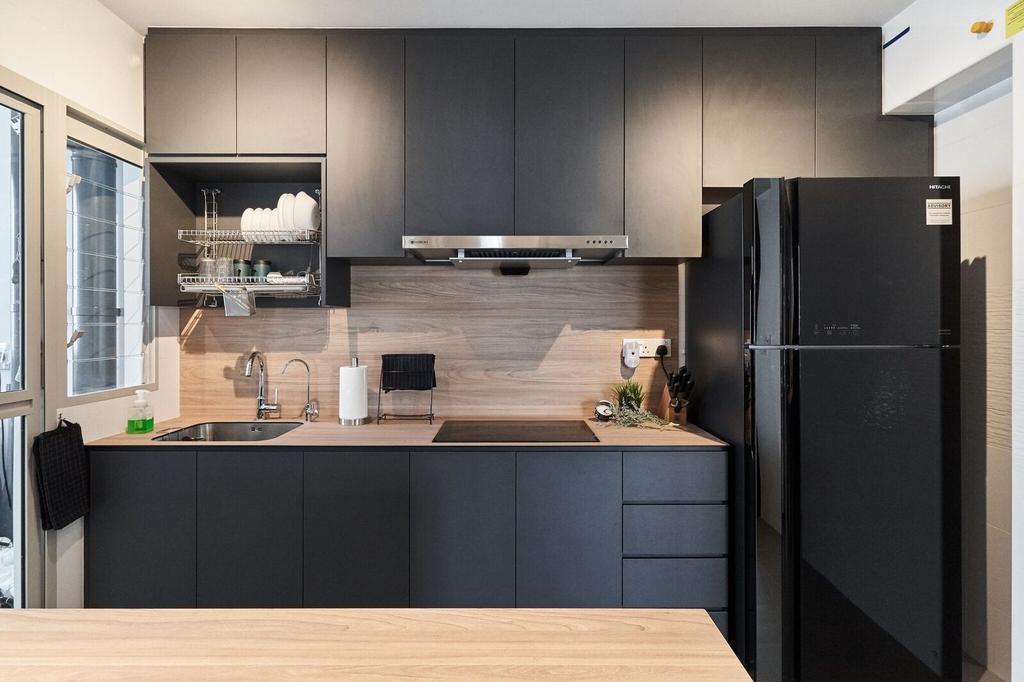 Contemporary, HDB, Kitchen, Sumang Walk, Interior Designer, Charlotte's Carpentry