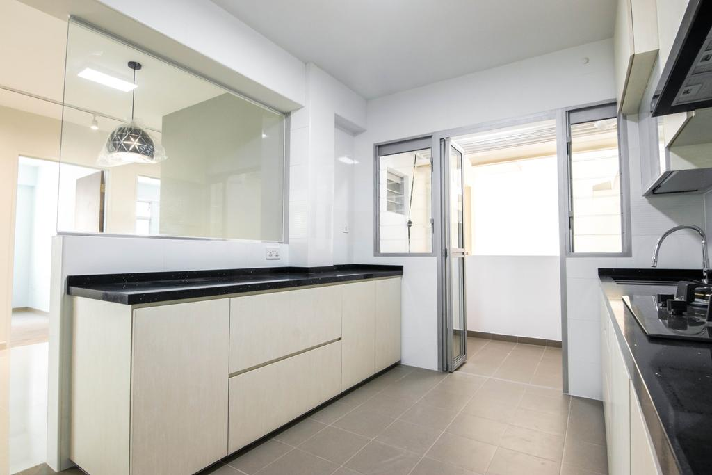 Contemporary, HDB, Kitchen, Canberra Drive, Interior Designer, 9 Creation