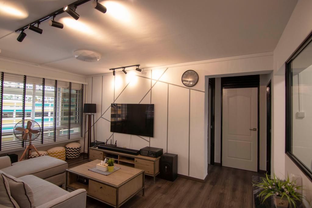 Contemporary, HDB, Living Room, Jurong West Street 71, Interior Designer, 9 Creation