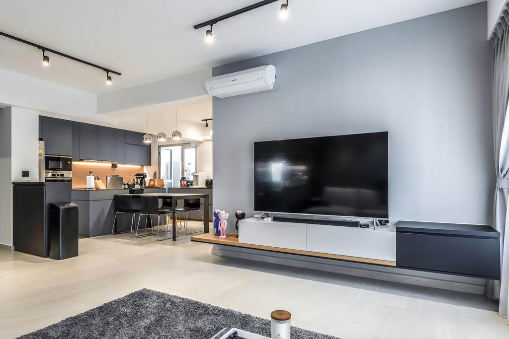 Contemporary, HDB, Living Room, Yishun Avenue 4, Interior Designer, 9 Creation