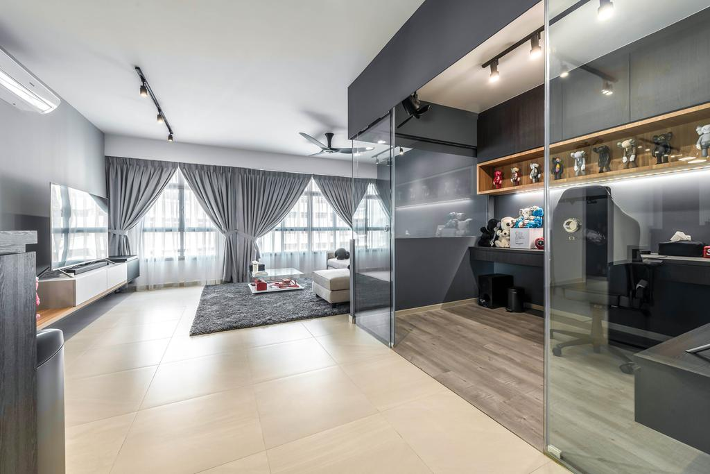 Contemporary, HDB, Study, Yishun Avenue 4, Interior Designer, 9 Creation