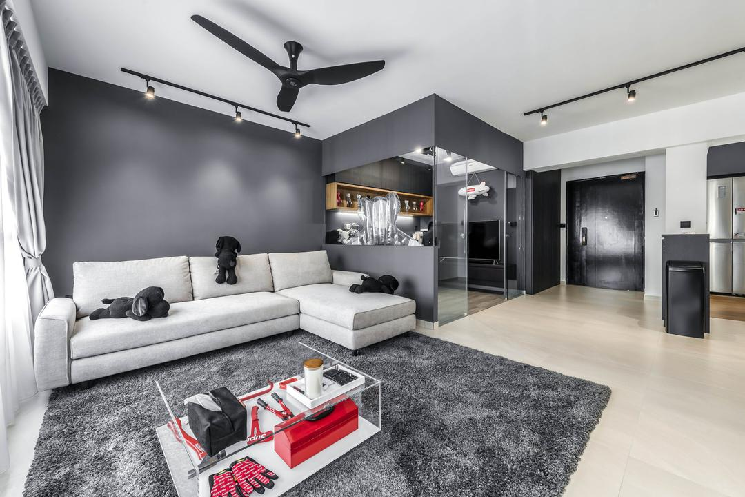 Yishun Avenue 4, 9 Creation, Contemporary, Living Room, HDB
