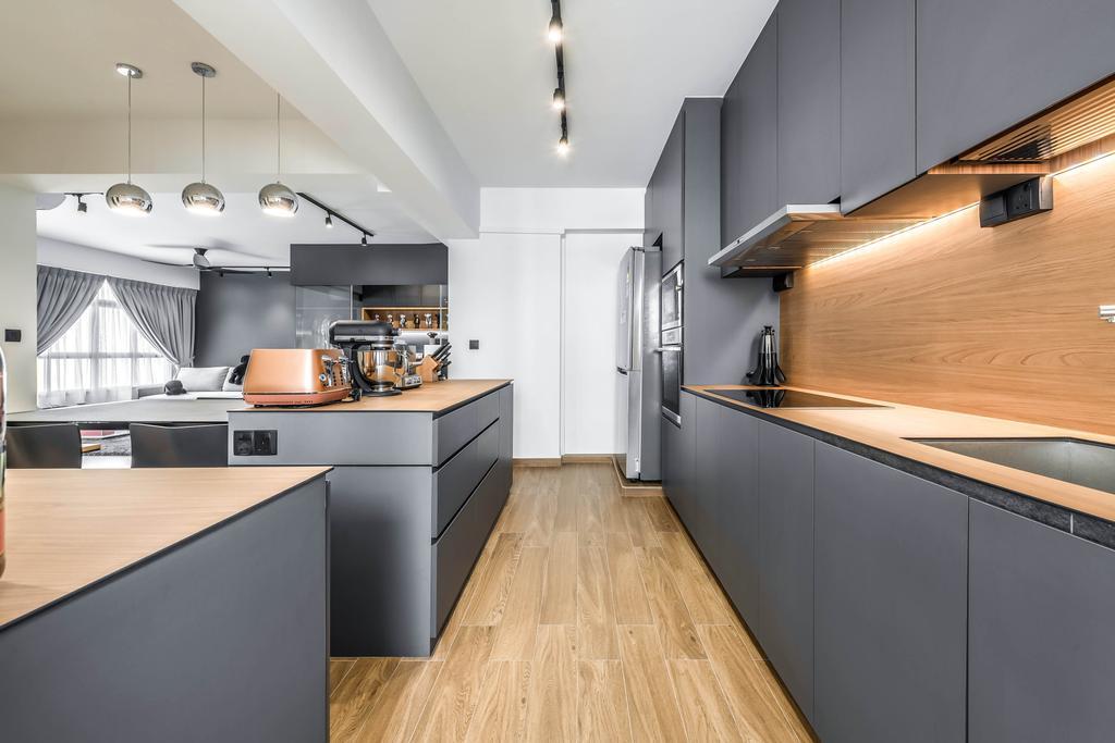 Contemporary, HDB, Kitchen, Yishun Avenue 4, Interior Designer, 9 Creation