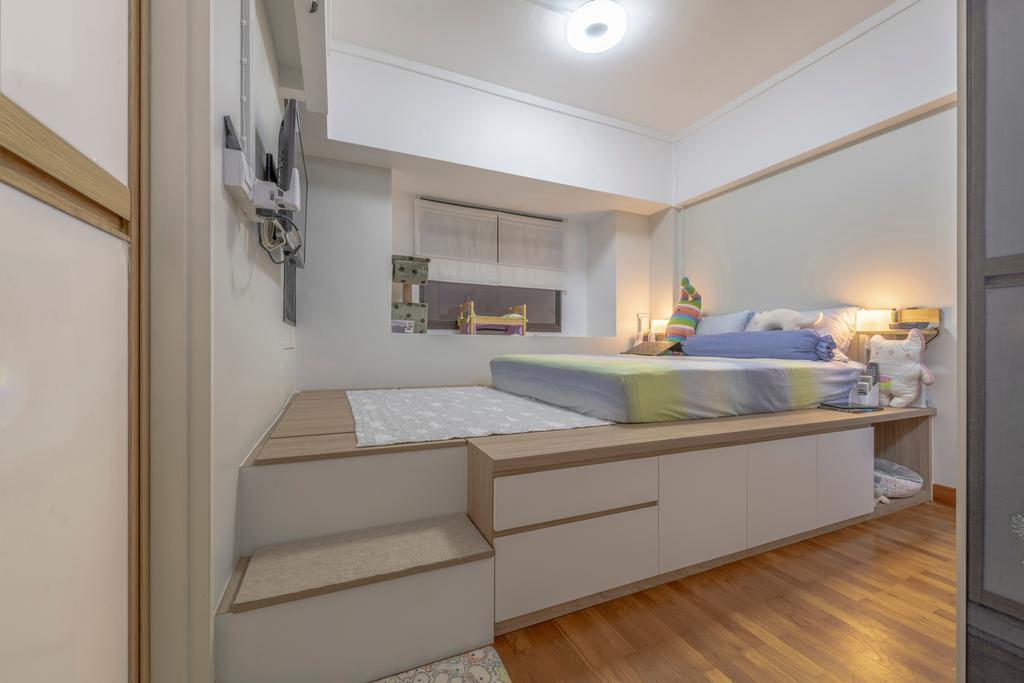 Scandinavian, HDB, Bedroom, Jurong West, Interior Designer, Urban Home Design 二本設計家