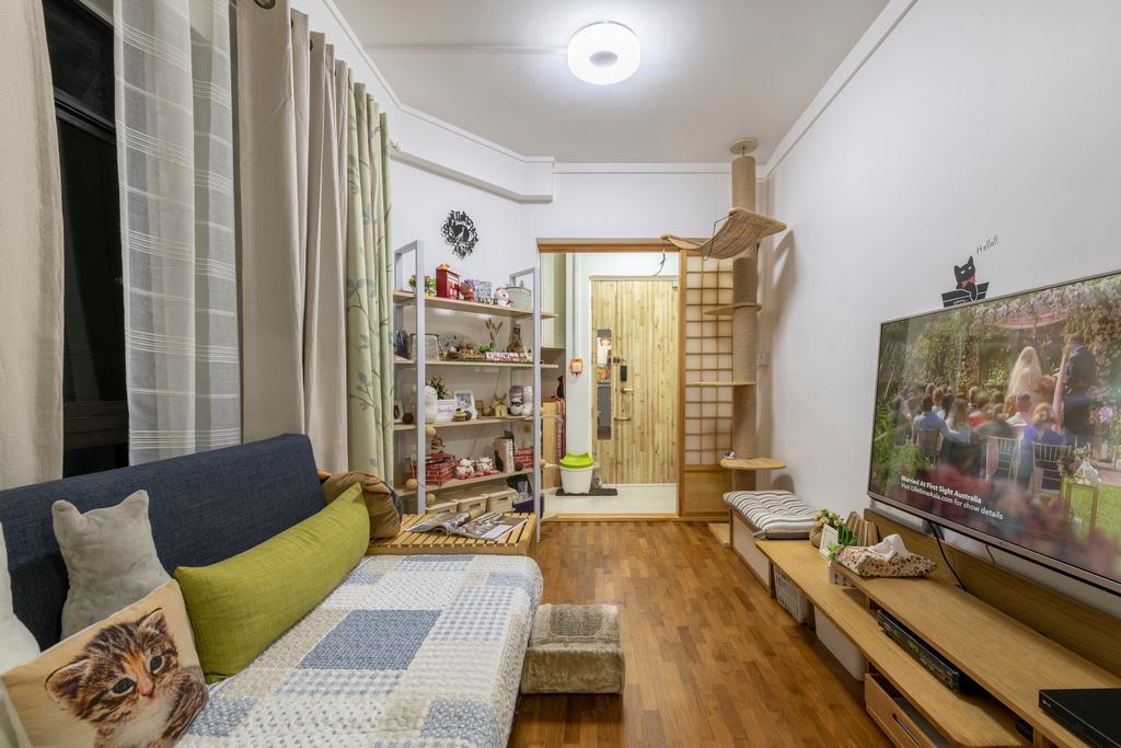Scandinavian, HDB, Living Room, Jurong West, Interior Designer, Urban Home Design 二本設計家