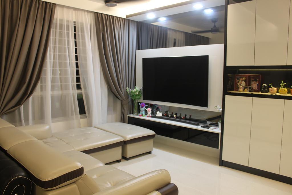 Contemporary, HDB, Living Room, Telok Blangah Street 31, Interior Designer, The Wooden Platform