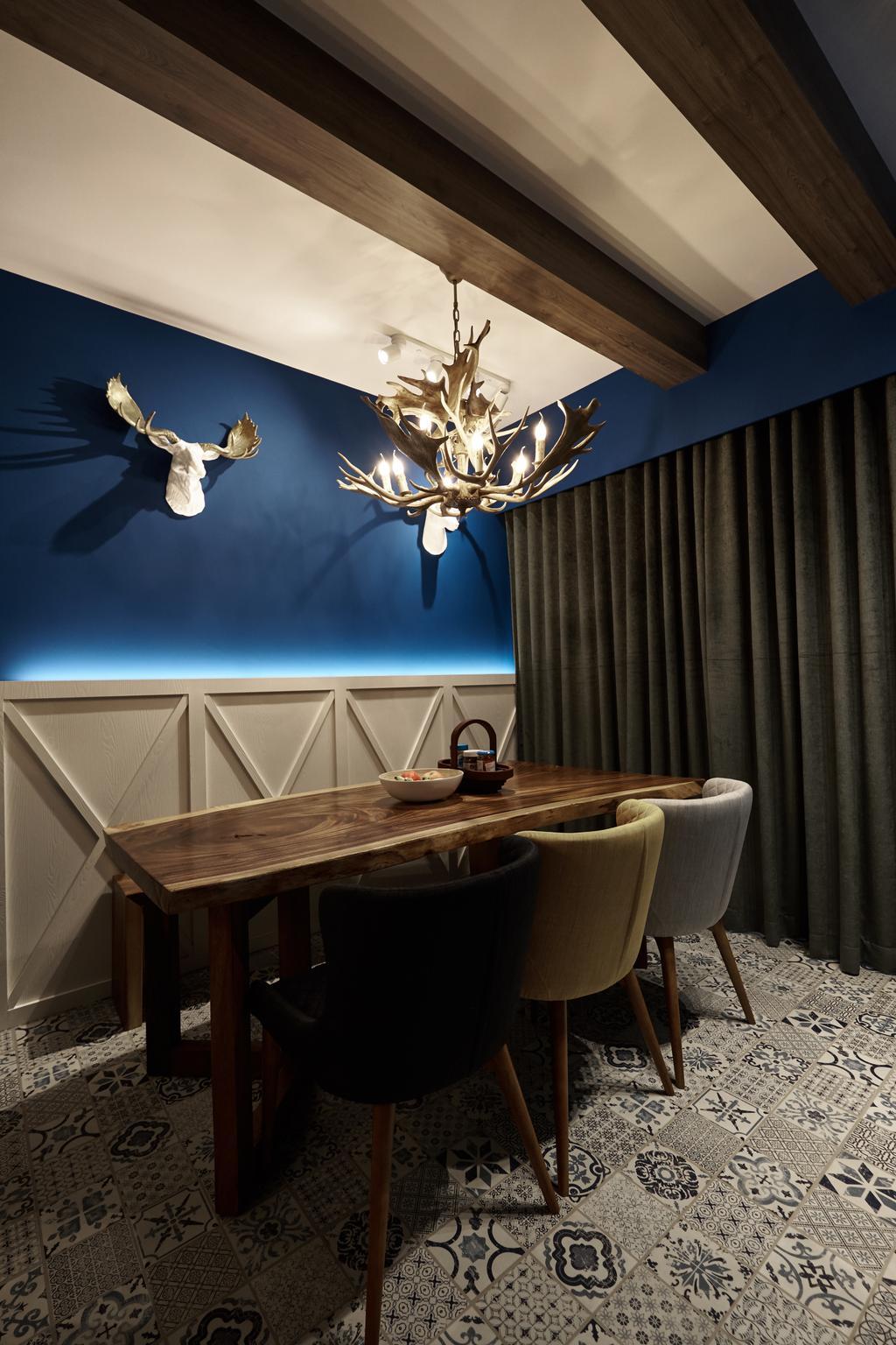 Eclectic, Condo, Dining Room, Sol Acres, Interior Designer, Rockin Spaces