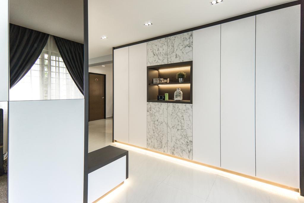 Contemporary, HDB, Living Room, Choa Chu Kang Avenue 4, Interior Designer, Flo Design
