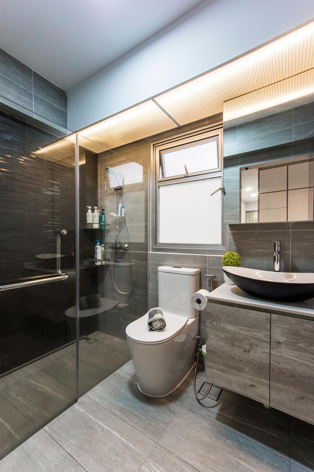 Contemporary, HDB, Bathroom, Bukit Batok West Avenue 8, Interior Designer, Flo Design