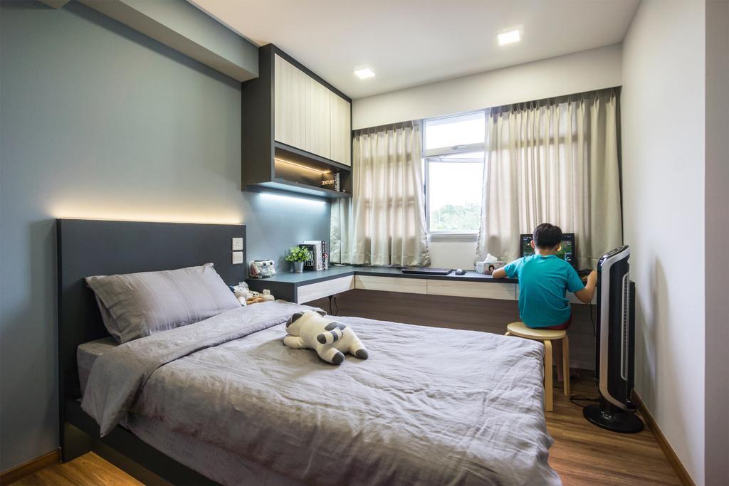 Contemporary, HDB, Bedroom, Bukit Batok West Avenue 8, Interior Designer, Flo Design