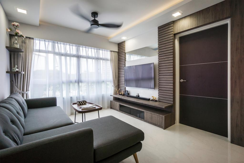 Contemporary, HDB, Living Room, Bukit Batok West Avenue 8, Interior Designer, Flo Design