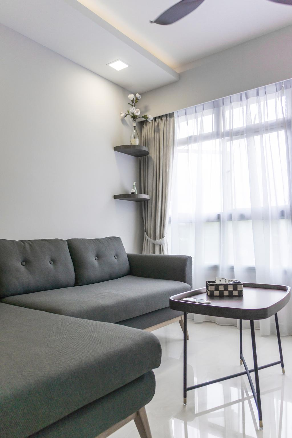 Contemporary, HDB, Living Room, Bukit Batok West Avenue 8, Interior Designer, Flo Design
