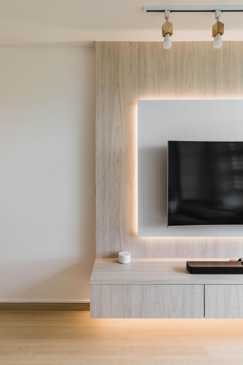 Scandinavian, HDB, Living Room, Clementi Avenue 1, Interior Designer, ECasa Studio, Contemporary