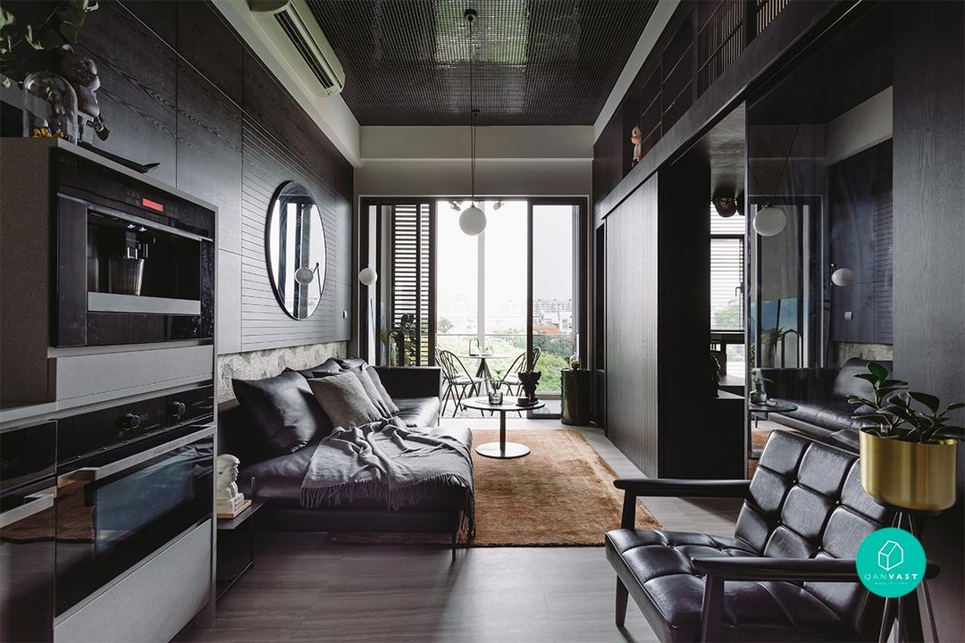 No Lack of Black: How A Designer Built Her Edgy-Chic Loft