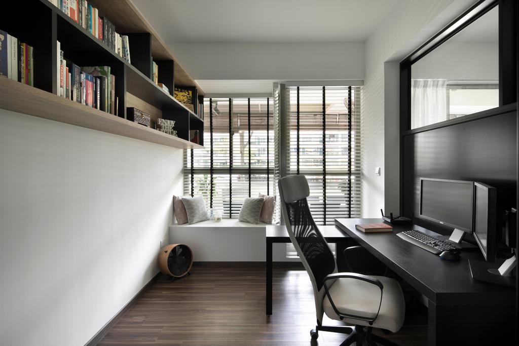 Contemporary, Condo, Study, The Calrose, Interior Designer, Fuse Concept