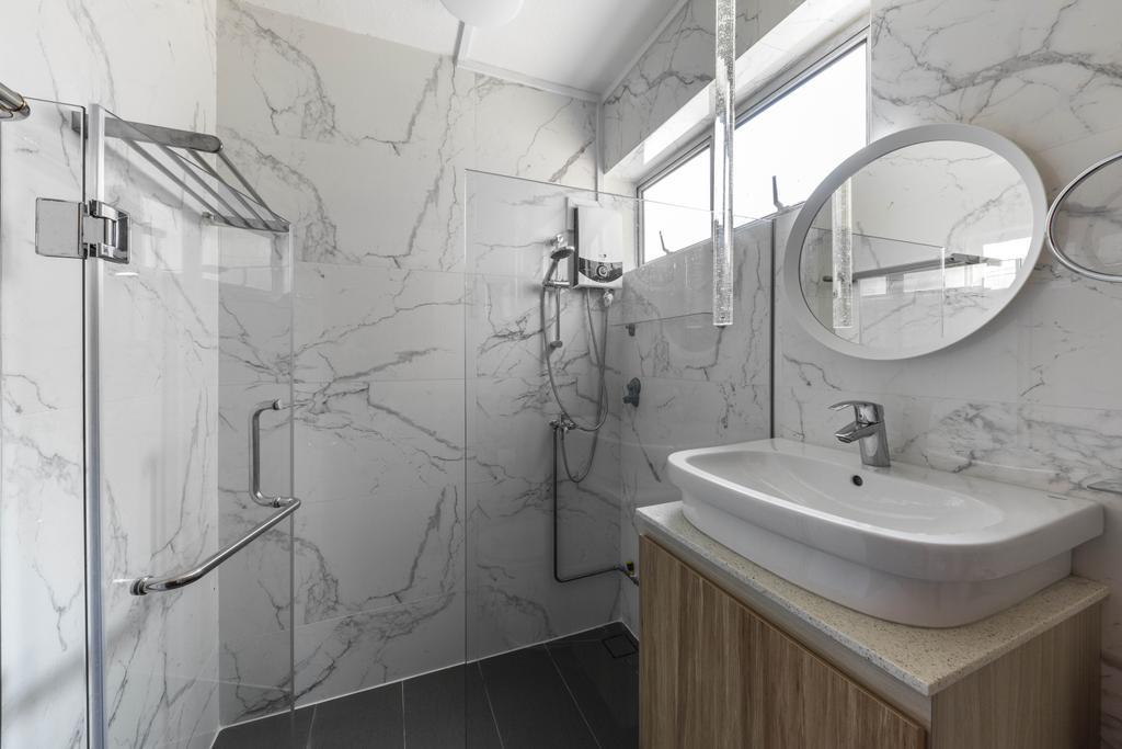 Contemporary, HDB, Bathroom, Serangoon Avenue 3, Interior Designer, Seven Heaven