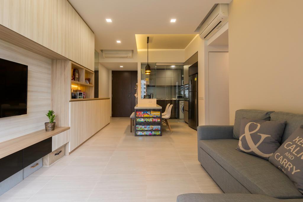 Contemporary, Condo, Living Room, D'Nest, Interior Designer, Dyel Design