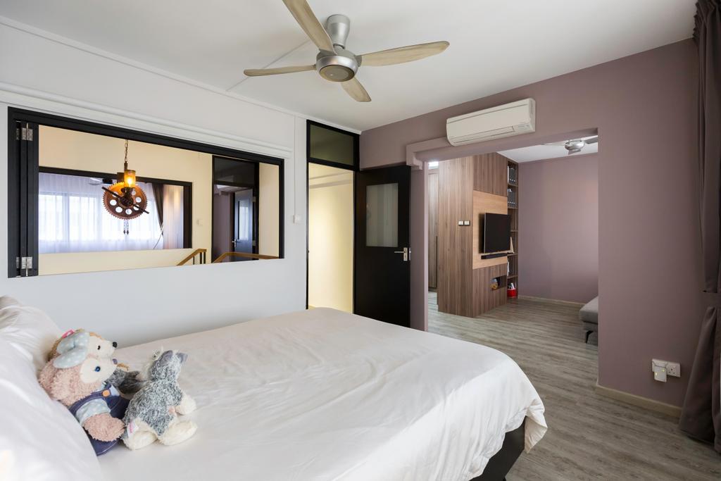 Contemporary, HDB, Bedroom, Simei Street 4, Interior Designer, Dyel Design