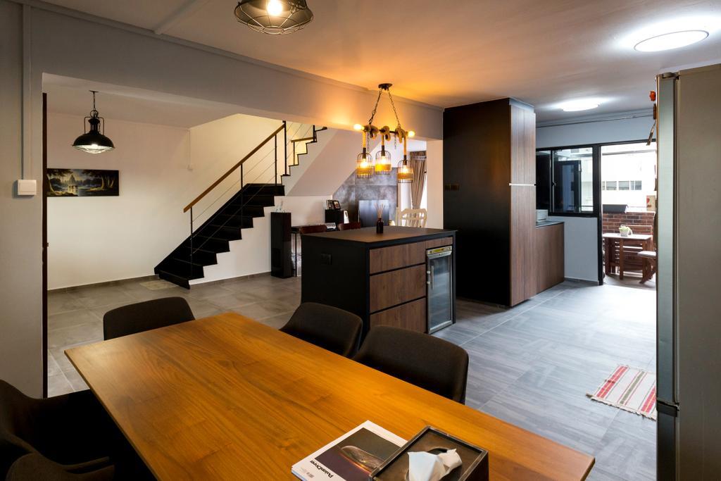 Contemporary, HDB, Dining Room, Simei Street 4, Interior Designer, Dyel Design