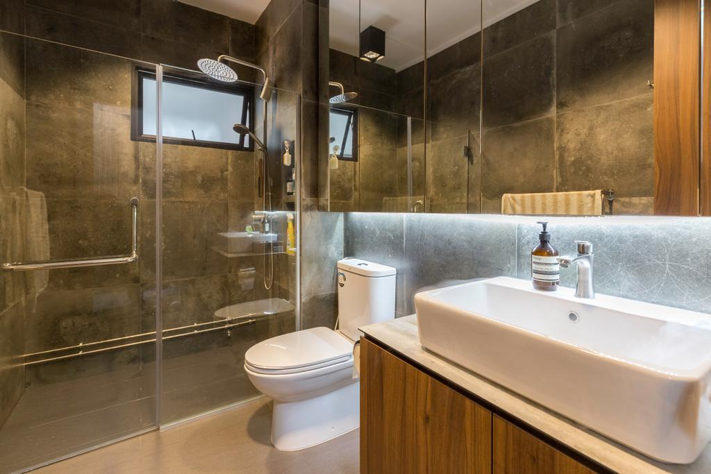 Contemporary, HDB, Bathroom, Simei Street 4, Interior Designer, Dyel Design
