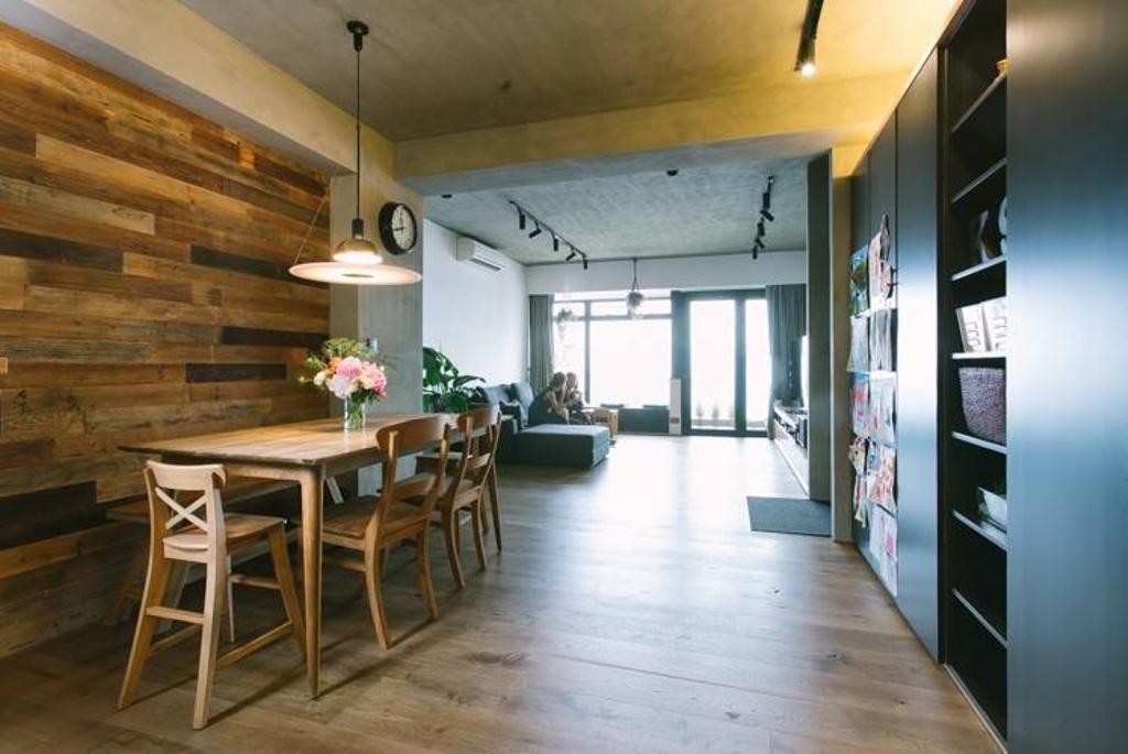 工業, 私家樓, 飯廳, Kingsford Gardens, 室內設計師, Ash Studio, 北歐